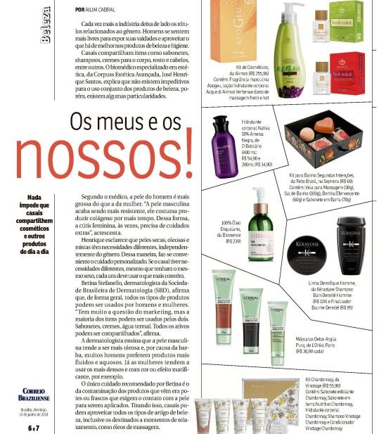 Akmos é destaque na revista Correio Braziliense