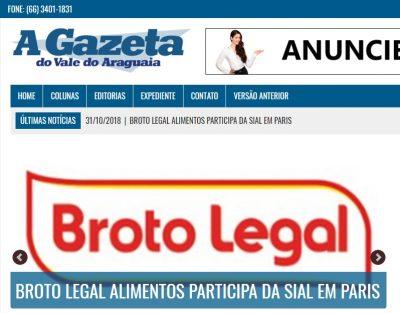 Broto na home da A Gazeta do Vale do Araguaia
