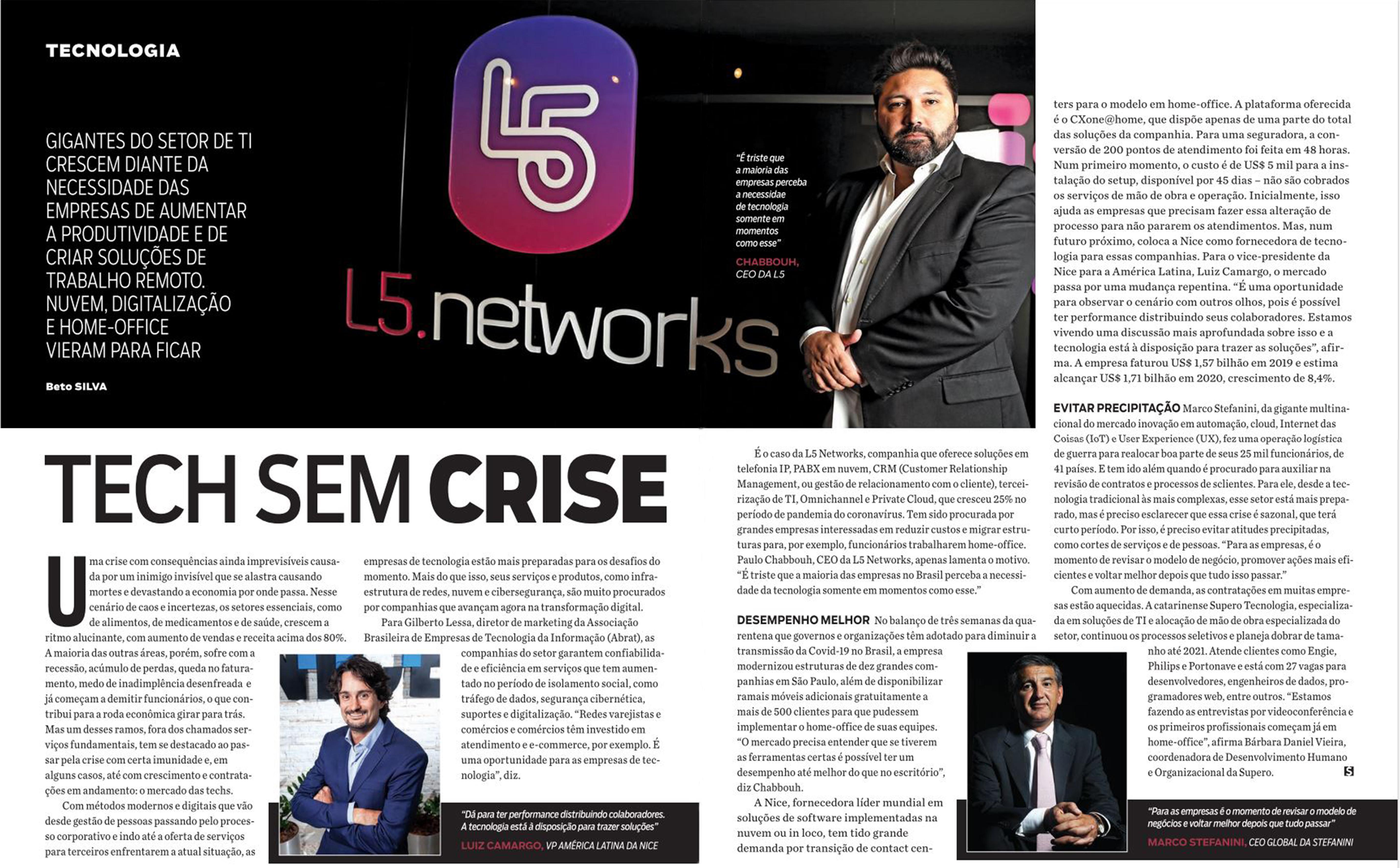 L5 Networks é destaque na IstoÉ Dinheiro
